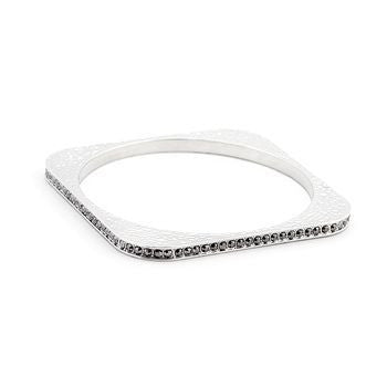 Hammered Crystal Square Bangle