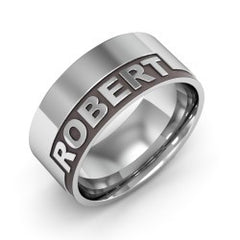 Name Silver Band Ring