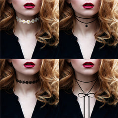 Bohemian Choker Necklace  4pc Set