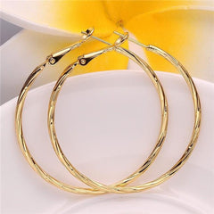 Twist Me Yellow Gold Hoop Earrings