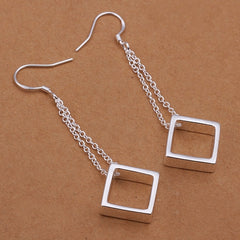 Hanging Square Earring