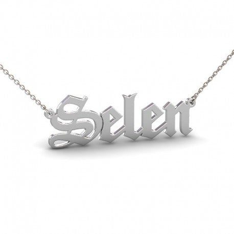 Sterling Silver Monogrammed Name Necklace