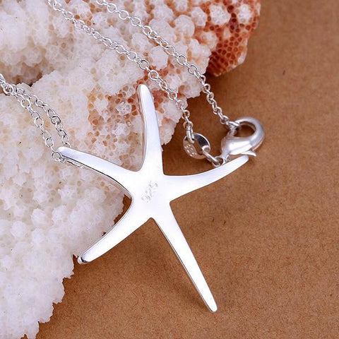 Grand Starfish Silver Necklace