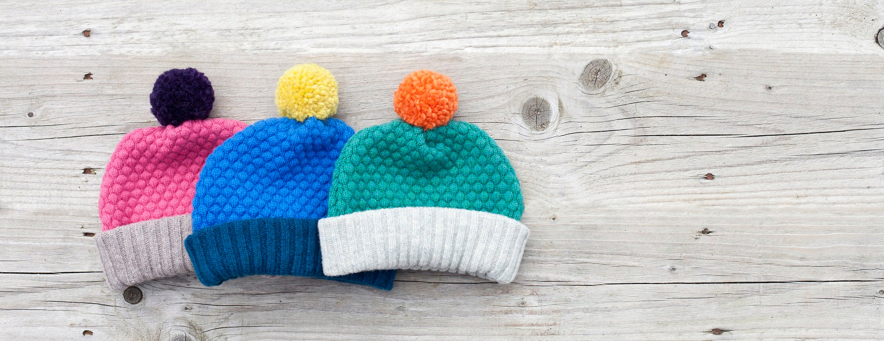 kids bobble hats
