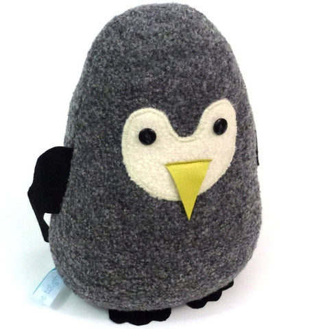 Large Penguin Doorstop - Grey Boucle