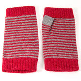 Grey & Red Stripy Wrist Warmer