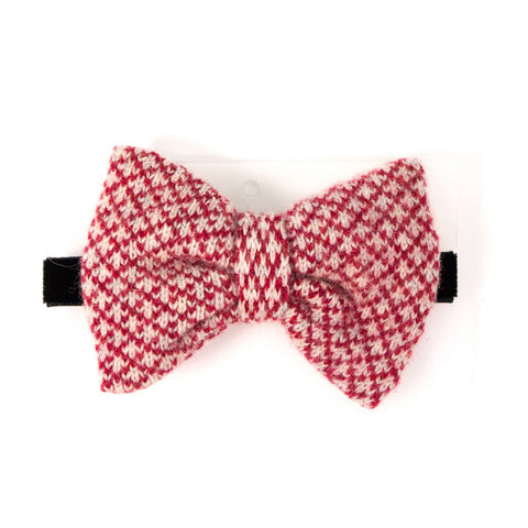 Lambswool Bow Tie - Red Check