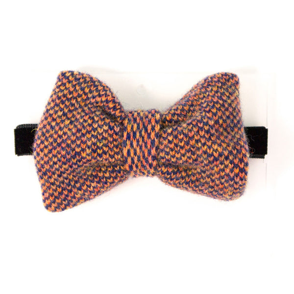 Lambswool Bow Tie - Navy Check