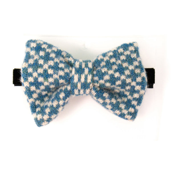 Lambswool Bow Tie - Teal Check