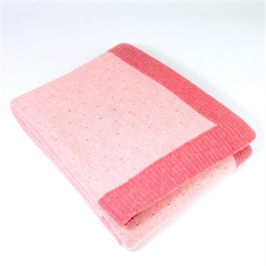 Lace Knit Kids' Pink Blanket