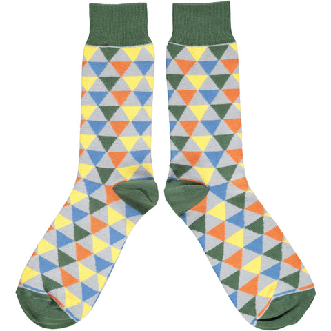 Men's Triangle Pattern Cotton Ankle Socks