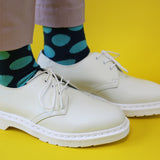 Ladies Jade Large Spot Cotton Ankle Socks