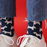 Ladies Scottie Dog Cotton Ankle Socks