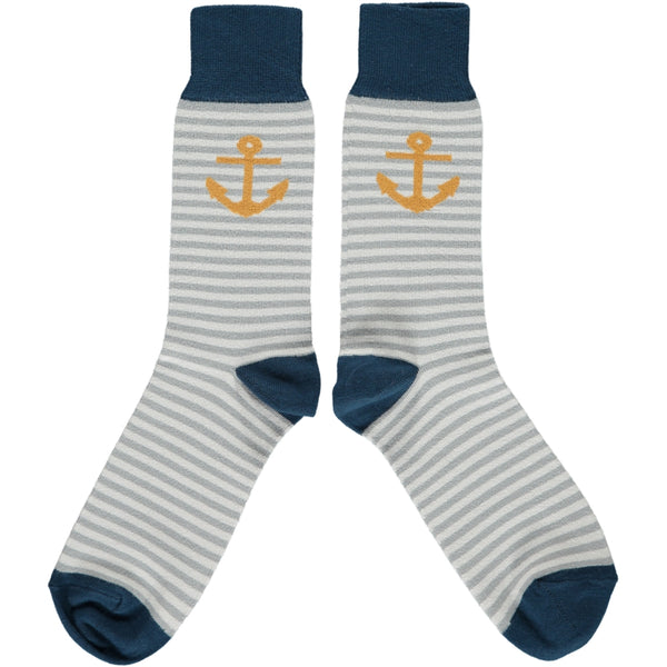 ANKLE SOCKS COTTON MENS - anchor