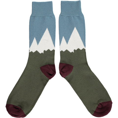 ANKLE SOCKS COTTON MENS - mountains green