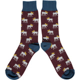 Men's Grey Moose Cotton Ankle Socks