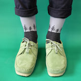 Men's Grey Forest Cotton Ankle Socks