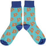 Ladies Orange Squirrel Cotton Ankle Socks