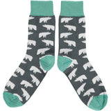 Ladies Polar Bear Cotton Ankle Socks