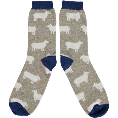 Men's Sage Sheep Lambswool Ankle Socks
