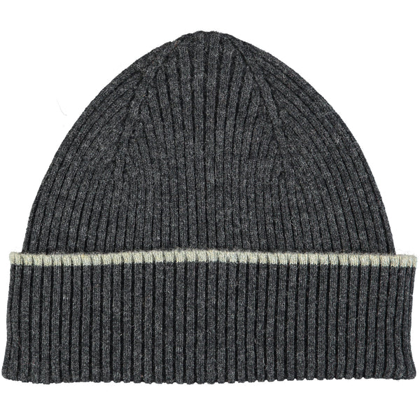 Charcoal Grey Lambswool Beanie