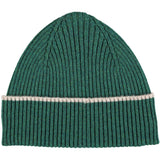 BEANIE - lambswool - rib - fir green