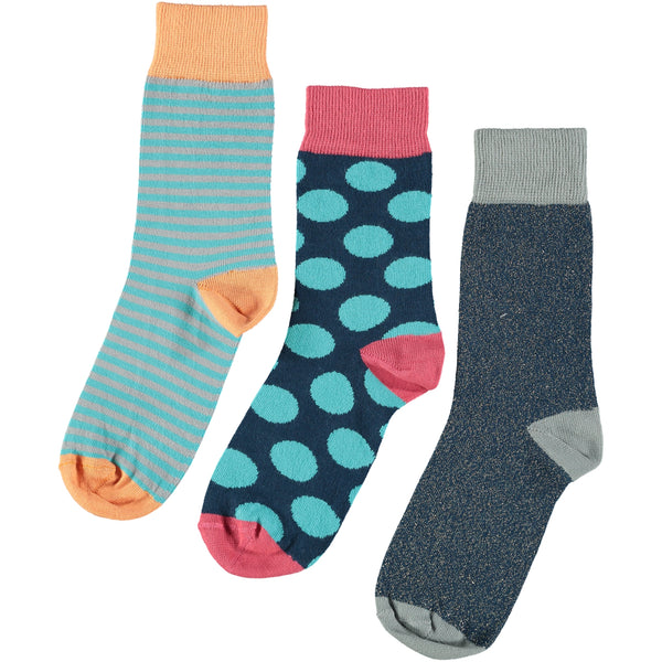 Blue Collection - Women's Cotton Ankle Sock 3 Pack - SAVE 20%