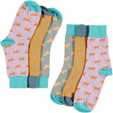 Cats & Dogs Collection - Women's Cotton Ankle Sock 3 Pack - SAVE 20%
