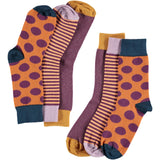 Plum Collection - Women's Cotton Ankle Sock 3 Pack - SAVE 20%