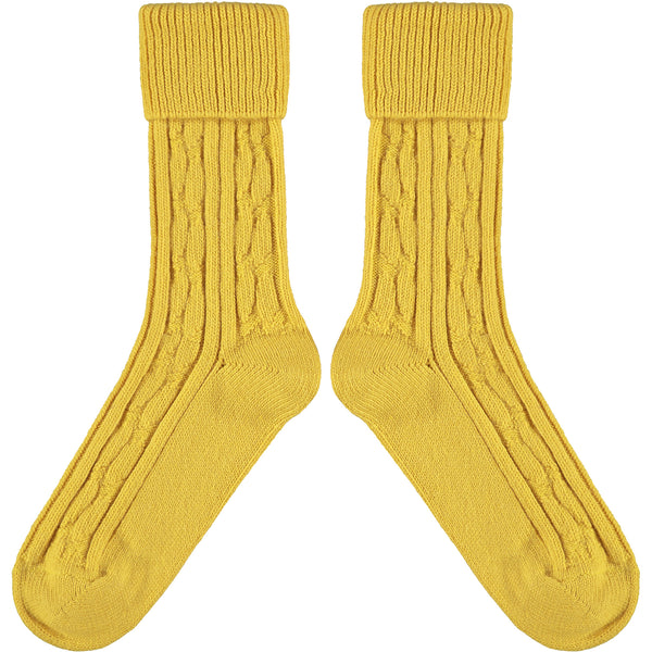 Bright Yellow Cashmere Mix Slouch Socks