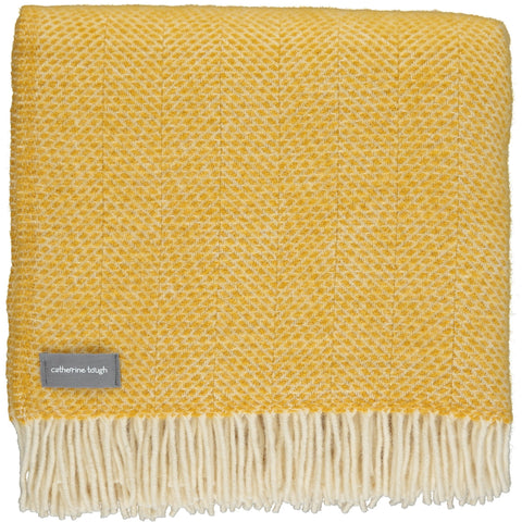 Bright Yellow Wool Throw