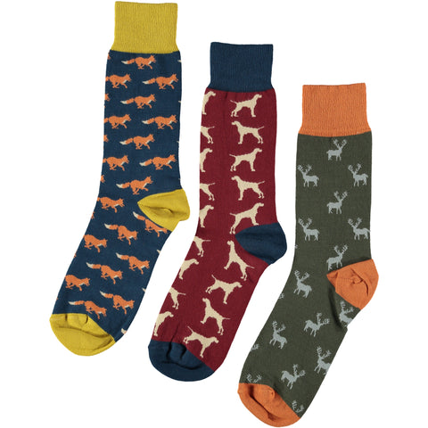 Countryside Collection - Men's Cotton Ankle Sock 3 Pack