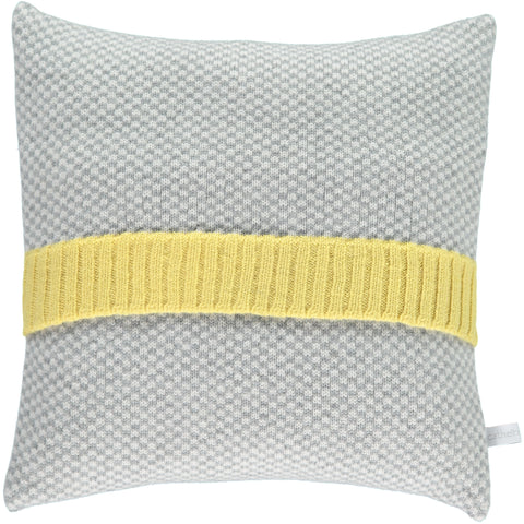 CUSHION LAMBSWOOL CHECK GREY