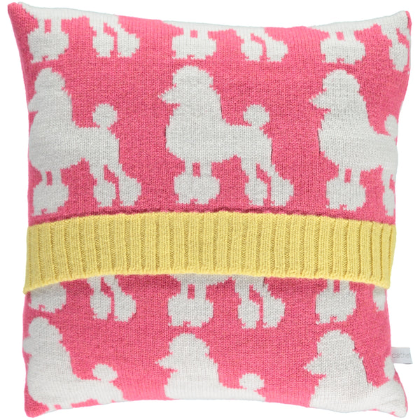 Lambswool Poodle Cushion