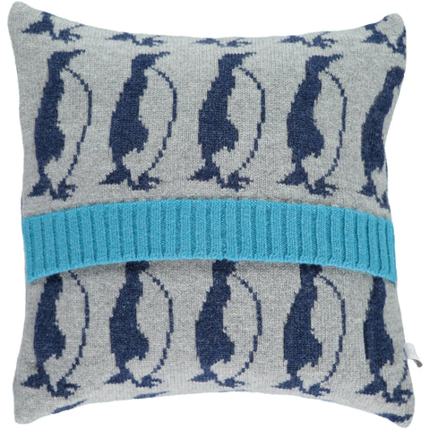 Lambswool Penguin Cushion