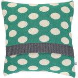 Lambswool Emerald & Oat Big Spot Cushion