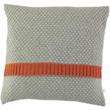 cinnamon and grey honeycomb cushion