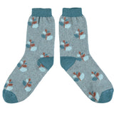 Catherine Tough x Dorset Cereals Unisex Lambswool Breakfast Socks - Patterned