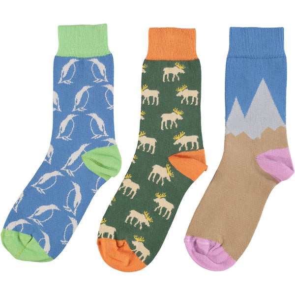 Cold Climate Collection - Women's Cotton Ankle Sock 3 Pack - SAVE 20%