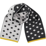 grey spotty lambswool scarf