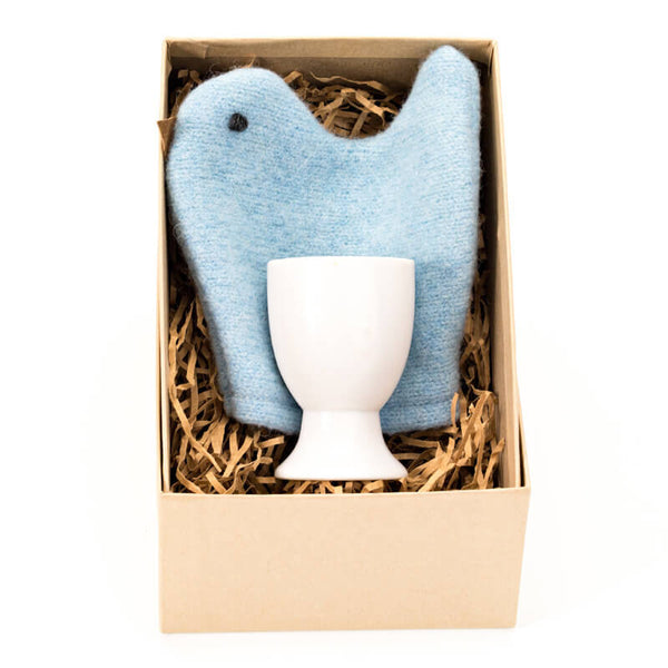 blue chick egg cosie set