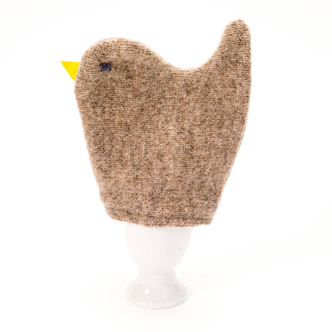 brown chick egg cosy set