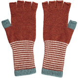 Women's Terracotta Fingerless Lambswool Gloves