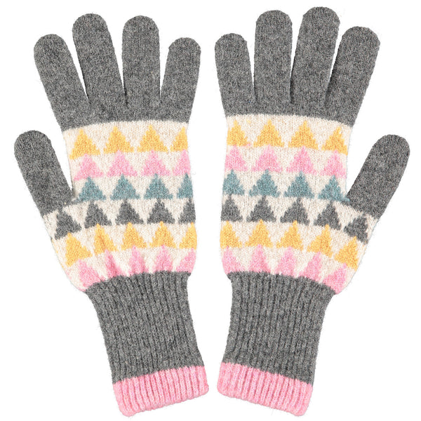 Women's Triangle Lambswool Gloves