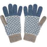 Men's Cross Mushroom & Denim Lambswool Gloves