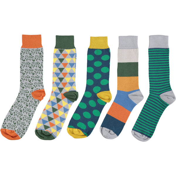 Green Five Collection - Men's Cotton Ankle Sock 5 Pack - SAVE 20%