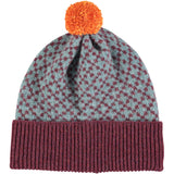 HAT - lambswool - cross - sageaubergine
