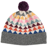 HAT  lambswool triangles  multi