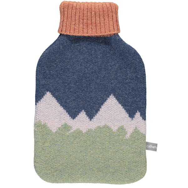 Lambswool Hot Water Bottle Cover - Sage Mountains