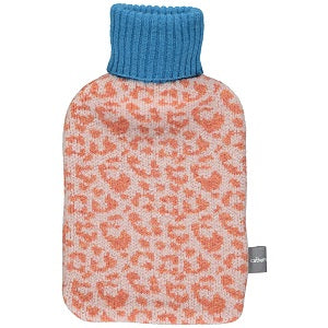Lambswool Hot Water Bottle Cover - Leopard Print
